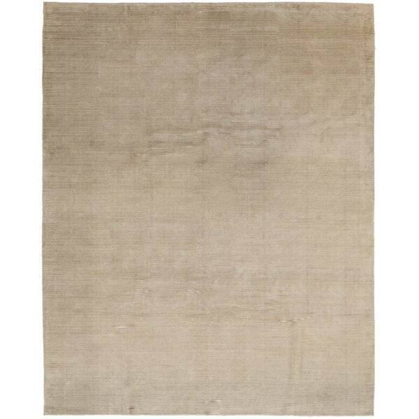 One-of-a-Kind Cullison Hand-Knotted Silk Brown Indoor Area Rug by Isabelline