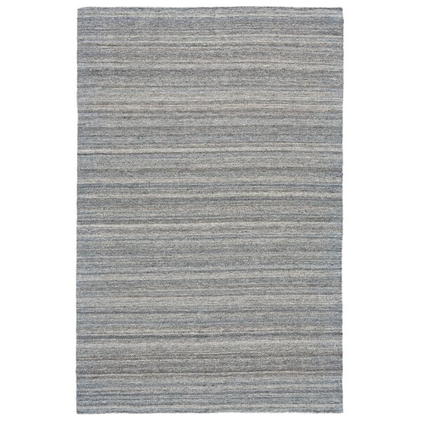 Mcmurtry Hand-Woven Wool Aqua Area Rug by Williston Forge