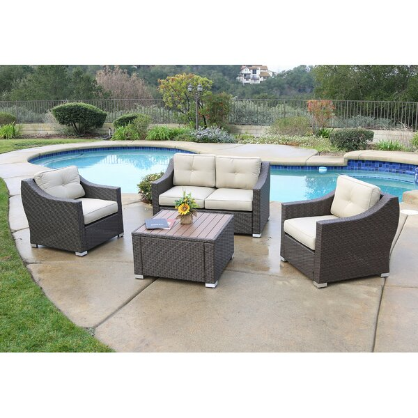 Leib 4 Piece Sofa Seating Group with Cushions