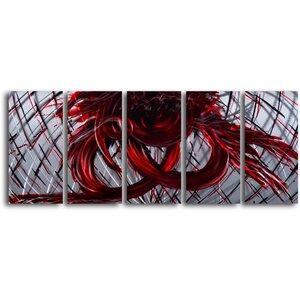'Eternal Heart' 5 Piece Graphic Art Plaque Set by My Art Outlet