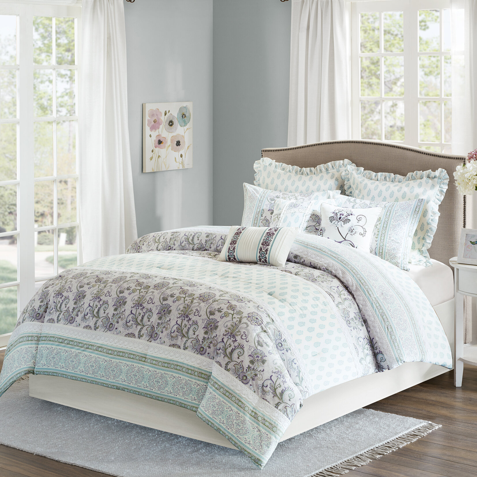 gordmans king decoration bedding piece coral set comforter sets