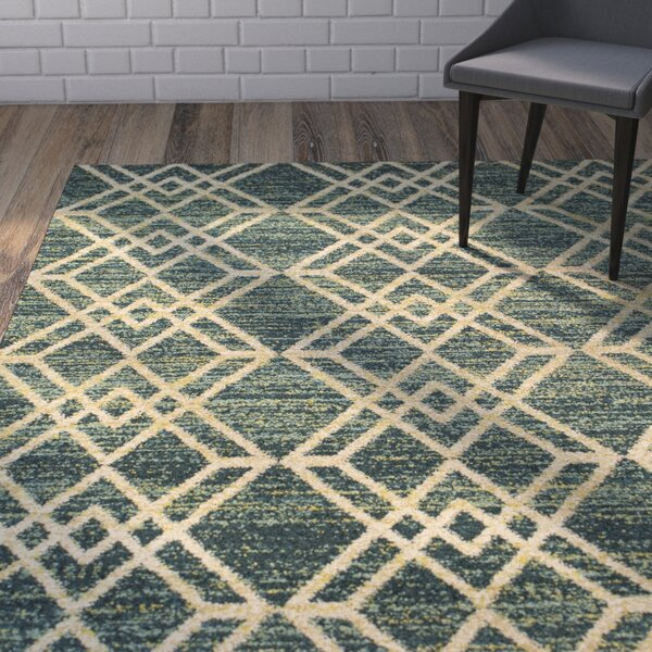 Brayden Teal Area Rug by Wrought Studio