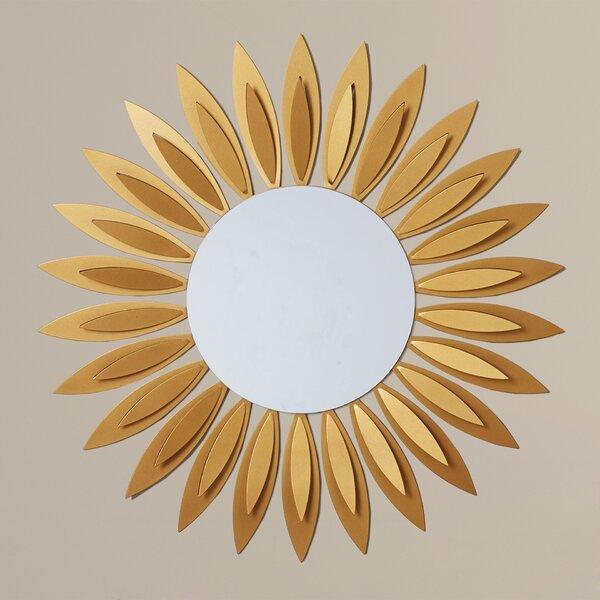 Sunflower Metal Wall Mirror by Latitude Run