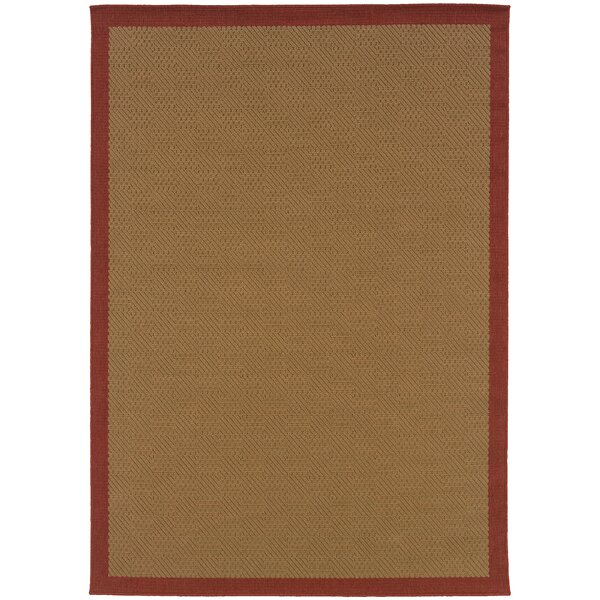 Goldenrod Brown Area Rug by Bay Isle Home