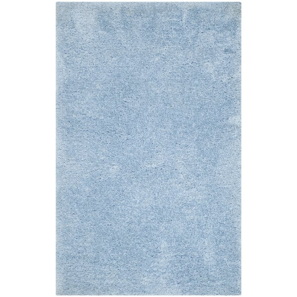 Page Light Blue Shag Area Rug by Wade Logan