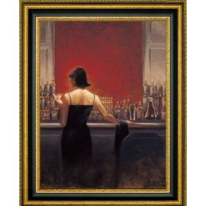 'Evening Lounge' by Brent Lynch Framed Painting Print by Canvas Art USA