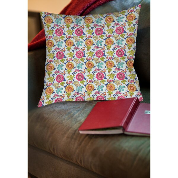 Shangri La Leaves Printed Throw Pillow by Manual Woodworkers & Weavers