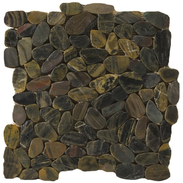 Flat Rivera Pebbles 12 x 12 Mosaic in Forest by Emser Tile