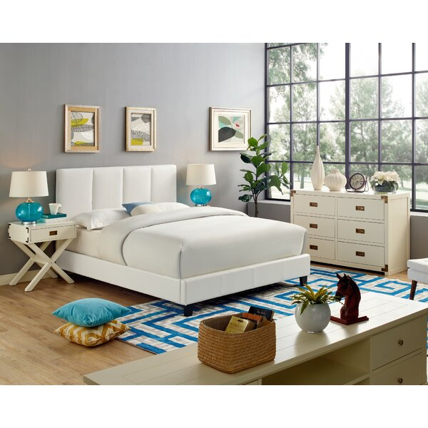 Steffens Queen Upholstered Standard Bed by Ebern Designs