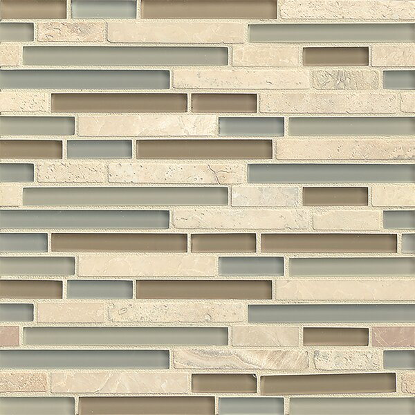 Carlisle 12 x 12 Stone Mosaic Linear Blend Tile in Isle by Grayson Martin