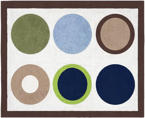 Designer Dot Cream Area Rug by Sweet Jojo Designs