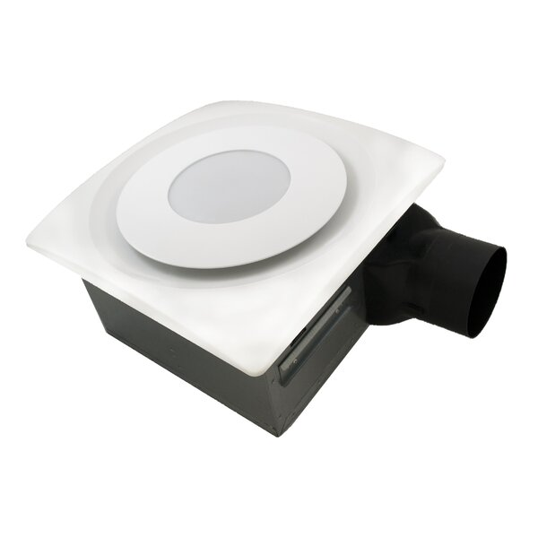 SlimFit 90 CFM Bathroom Fan with Light by Aero Pure