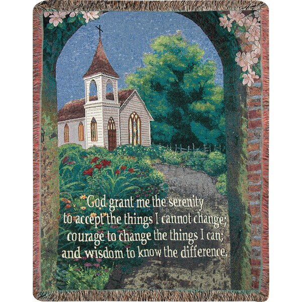 Serenity Prayer Tapestry Cotton Throw by Manual Woodworkers & Weavers