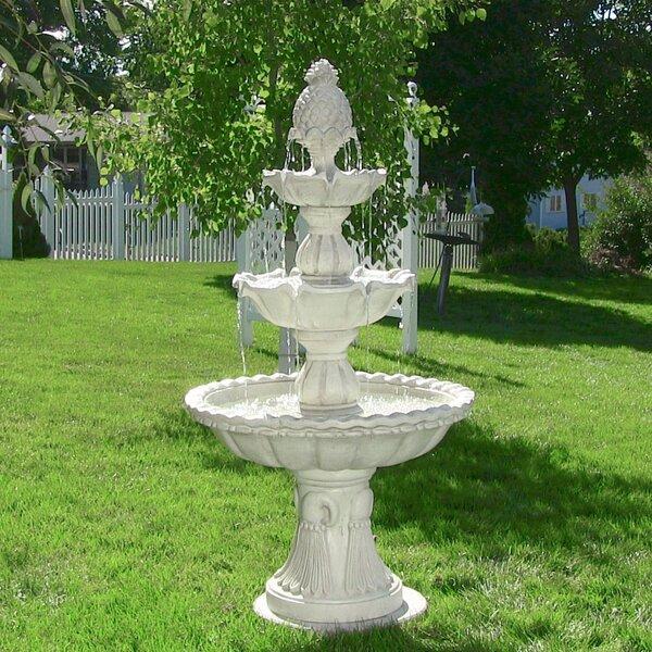 Dunkin Fiberglass Welcome 3-Tier Garden Fountain by Astoria Grand