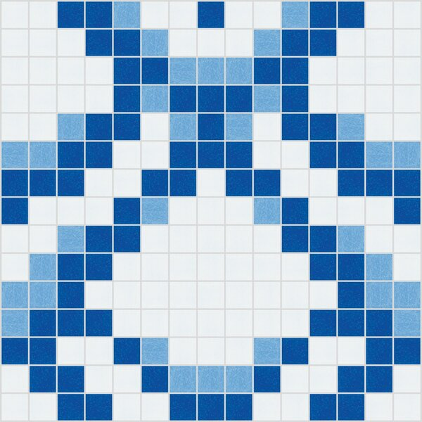 Urban Essentials Subtle Scales 3/4 x 3/4 Glass Glossy Mosaic in Lakefront Blue by Mosaic Loft