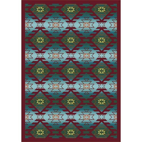 Canyon Ridge Desert Blue Area Rug by The Conestoga Trading Co.