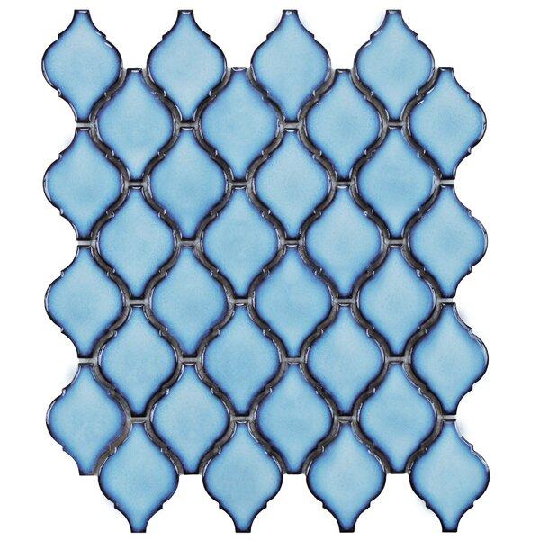 Arabesque 1.87 x 2.75 Porcelain Mosaic Tile in Aella by EliteTile