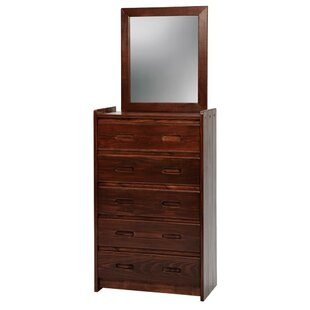 Savings 5 Drawer Standard Chest with Mirror ByChelsea Home