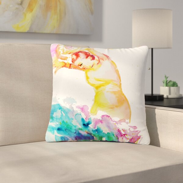 Cecibd Espana I People Outdoor Throw Pillow by East Urban Home