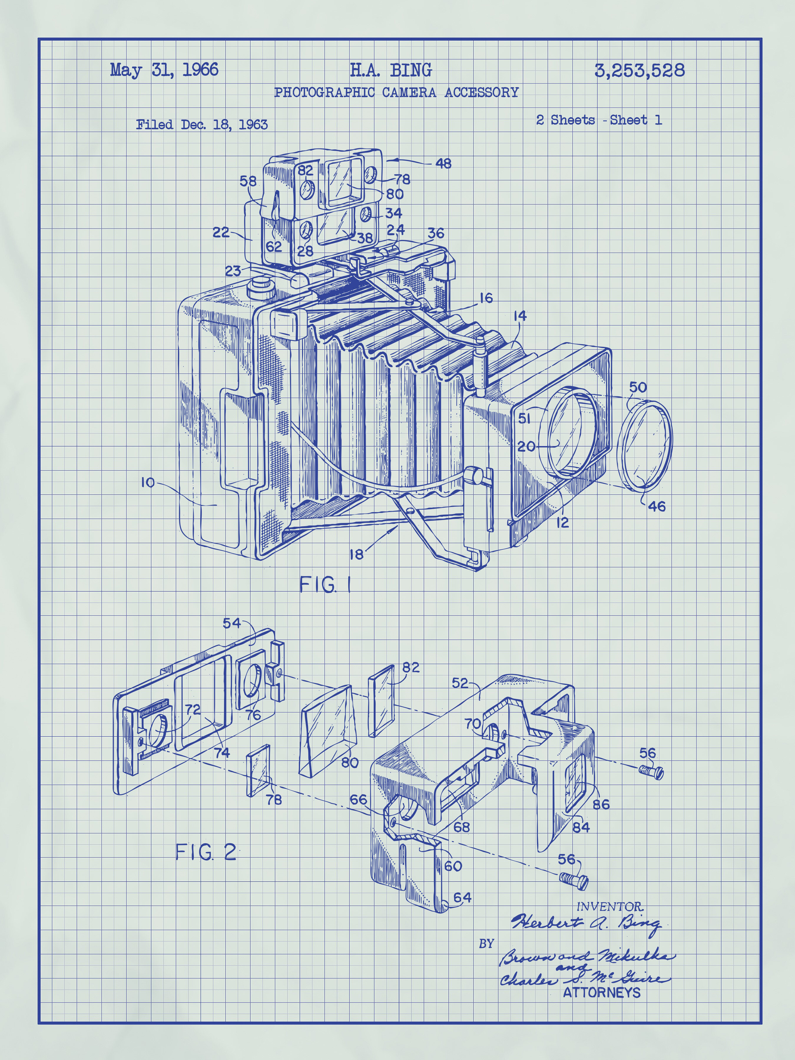 Inked and screened photographic camera blueprint graphic art inked and screened photographic camera blueprint graphic art reviews wayfair malvernweather Choice Image