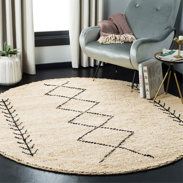 Pace Hand-Woven Ivory/Black Area Rug by Union Rustic