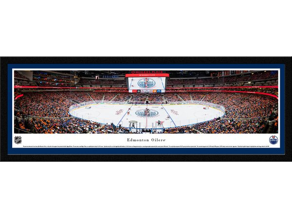 NHL Edmonton Oilers 1st Game at Rogers Place Framed Photographic Print by Blakeway Worldwide Panoramas, Inc