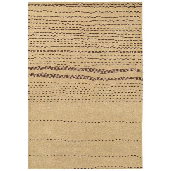 Beirut Hand-Woven Wool Tan Area Rug by Bungalow Rose