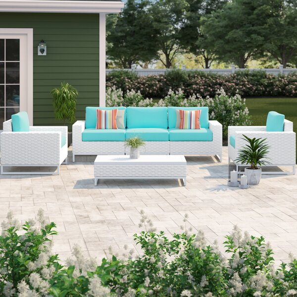Menifee 6 Piece Sofa Seating Group with Cushions by Sol 72 Outdoor