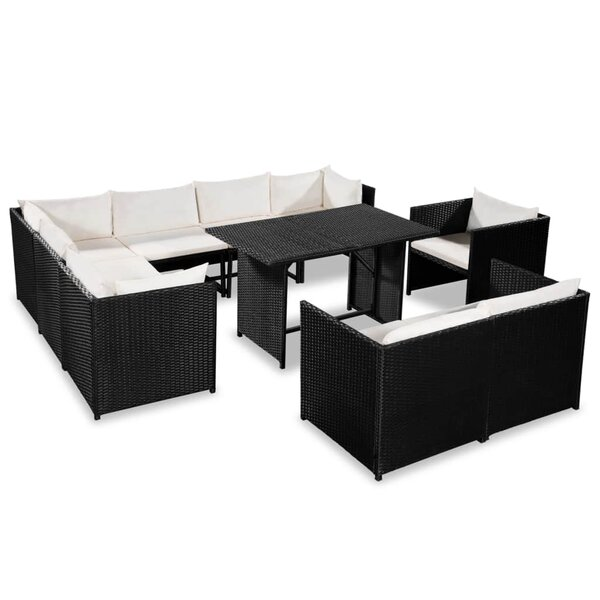 Wendover Garden 10 Piece Sectional Seating Group with Cushions by Ivy Bronx