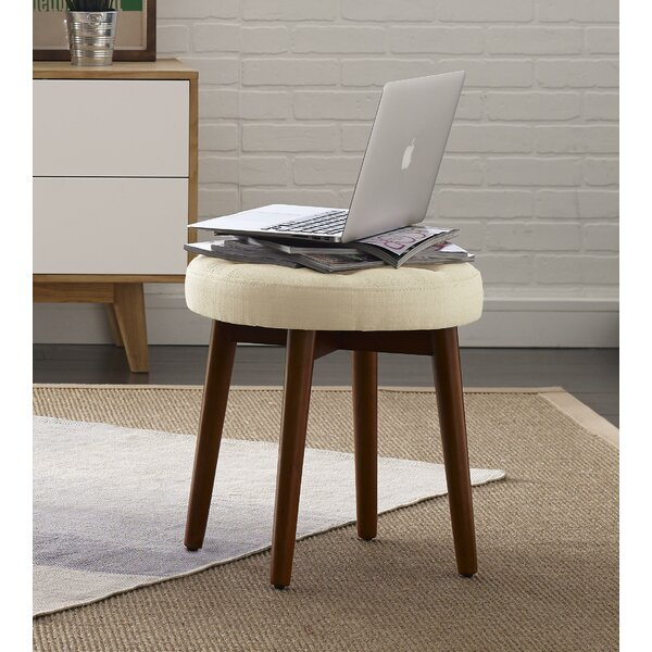 Penelope Round Tufted Accent Stool by Elle Decor
