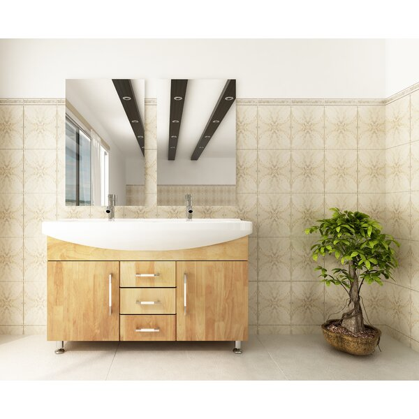 Celine 48 Double Bathroom Vanity Set by JWH Living