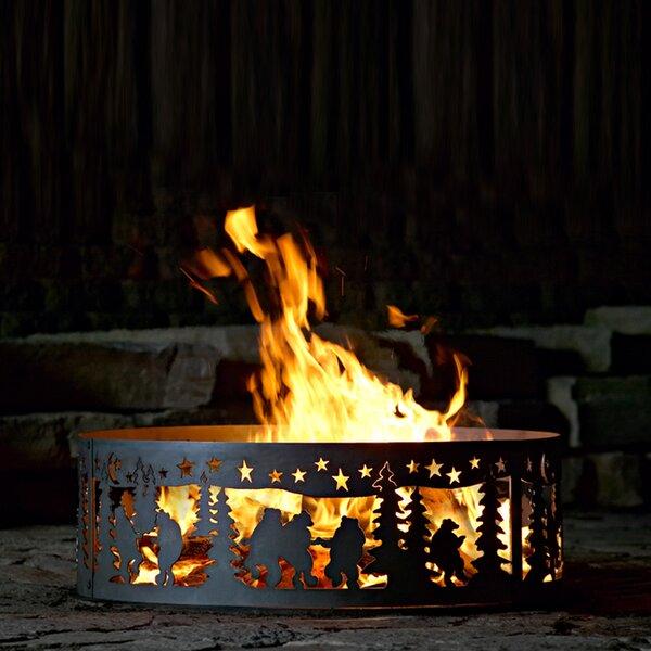 Dancing bear Steel Wood Burning Fire ring by P & D Metal Works