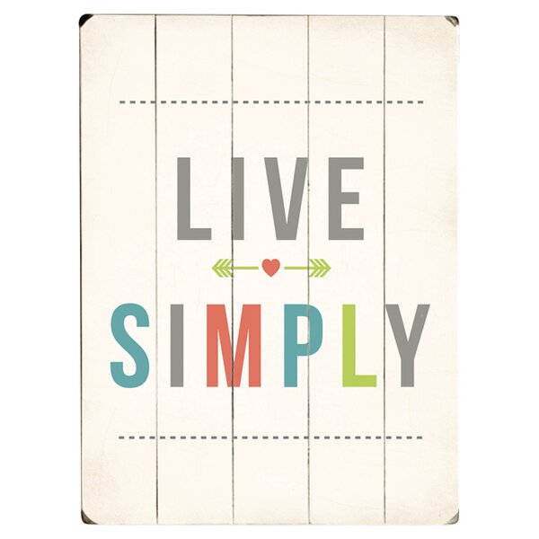 Live Simply Textual Art Multi-Piece Image on Wood by Artehouse LLC