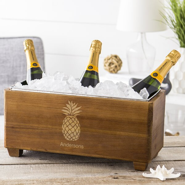Pineapple Wooden Wine Trough by Cathys Concepts