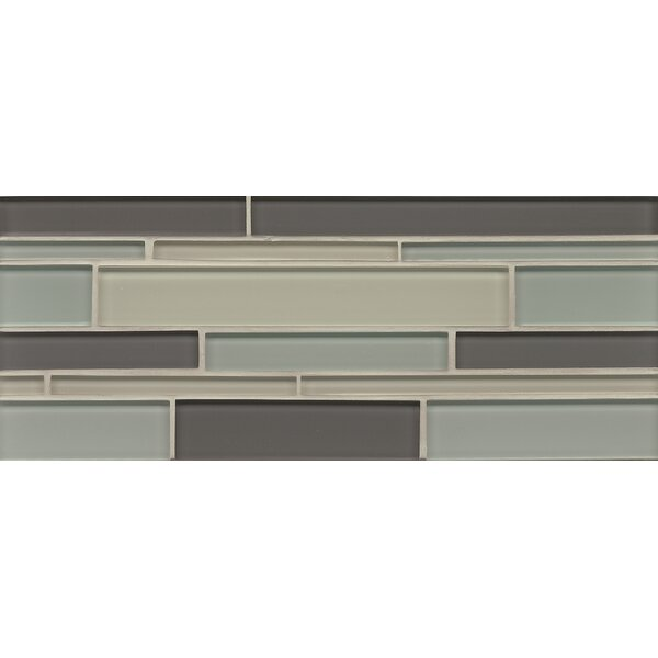 Harbor Glass 6.3 x 16 Glass Mosaic Random Interlocking Blend Tile in Starboard by Grayson Martin
