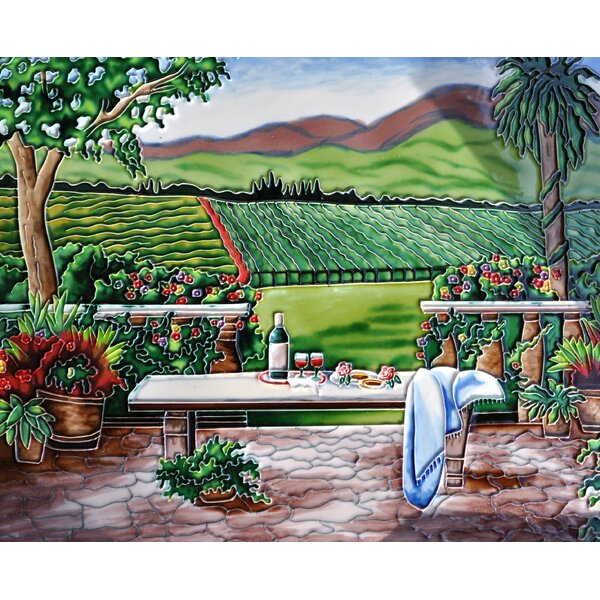 Vineyard with Table Tile Wall Decor by Continental Art Center