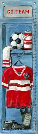 Soccer Locker Growth Chart by Oopsy Daisy