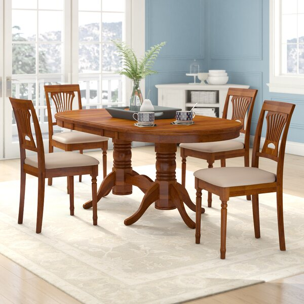 Schacht 5 Piece Extendable Solid Wood Dining Set by Winston Porter