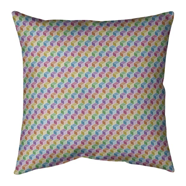 Kitterman Lined Cube Indoor/Outdoor Throw Pillow
