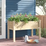 Elick Wood Elevated Planter