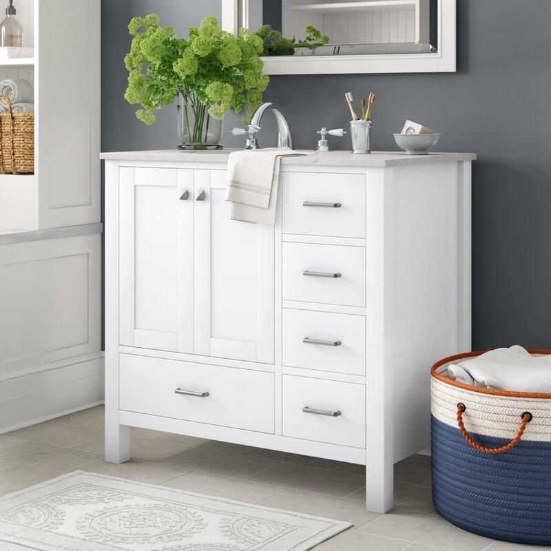 "Aneira Full Cabinet 36"" Single Bathroom Vanity Set"