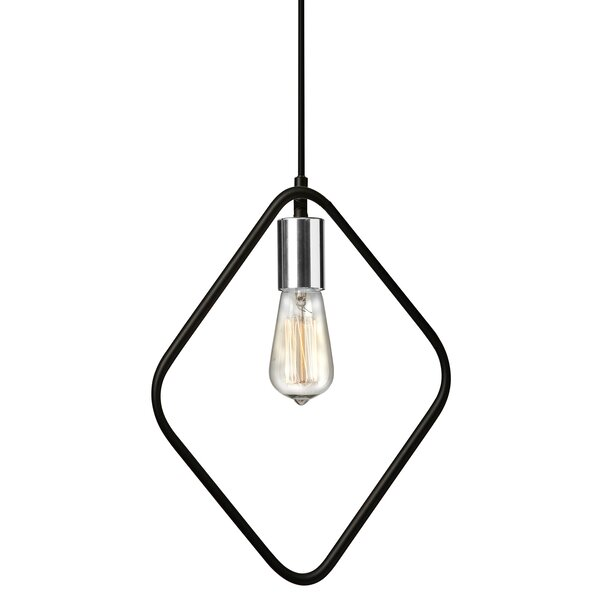 Mitzi 1-Light Bulb Pendant by Wrought Studio