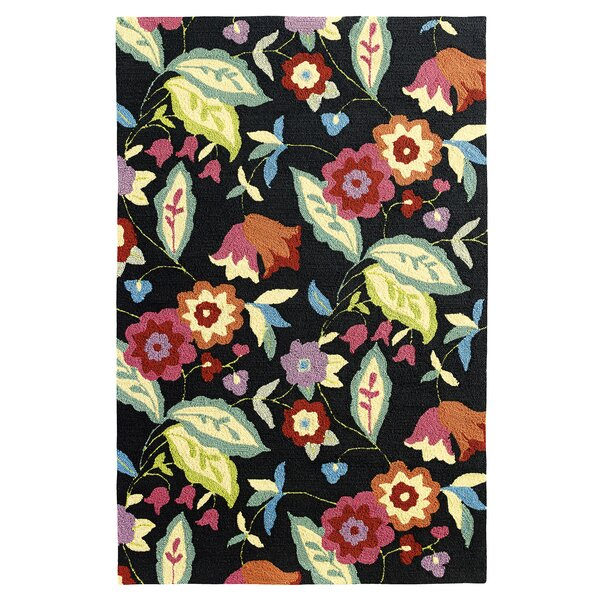 Samantha Black Indoor/Outdoor Area Rug by CompanyC