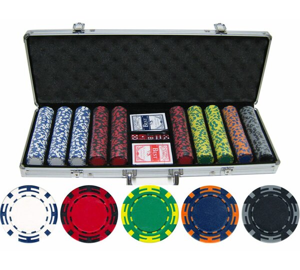 500 Piece Z Striped Clay Poker Chip by JP Commerce