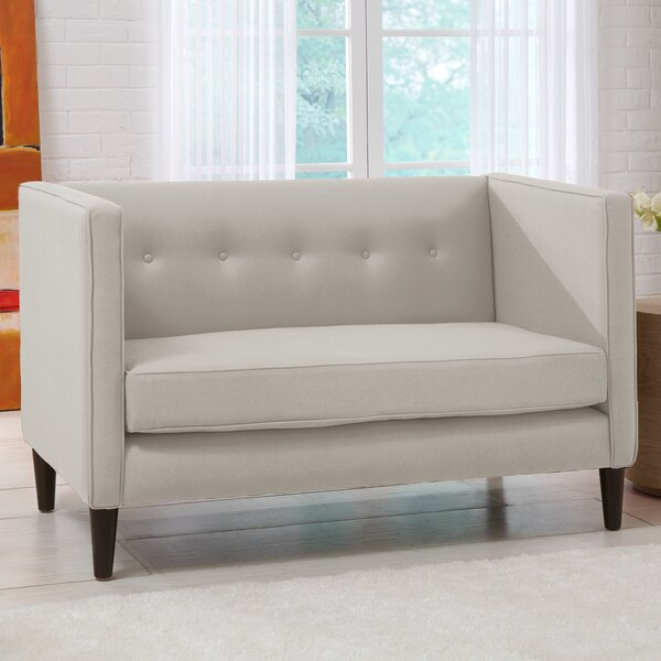 Top Quality Chesterfield Loveseat by Skyline Furniture by Skyline Furniture