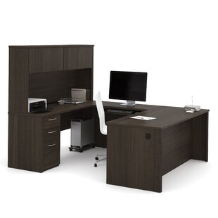 Karyn U-Shape Computer Desk with Hutch