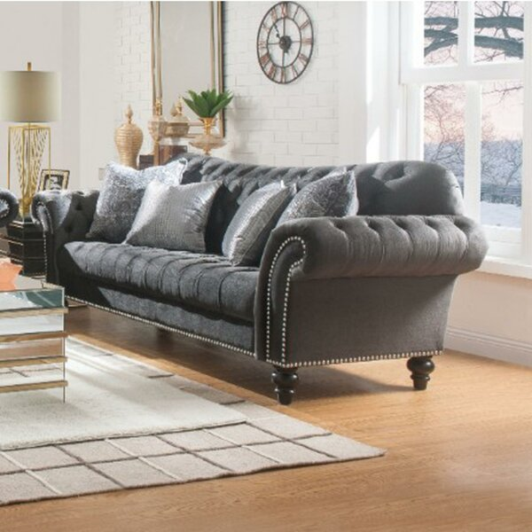 Buy Online Humboldt Button Upholstered Sofa by Rosdorf Park by Rosdorf Park