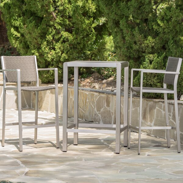 Durbin 3 Piece Bar Height Dining Set by Wade Logan