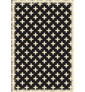 Lundy Elegant Cross Design Black/White Indoor/Outdoor Area Rug by Union Rustic