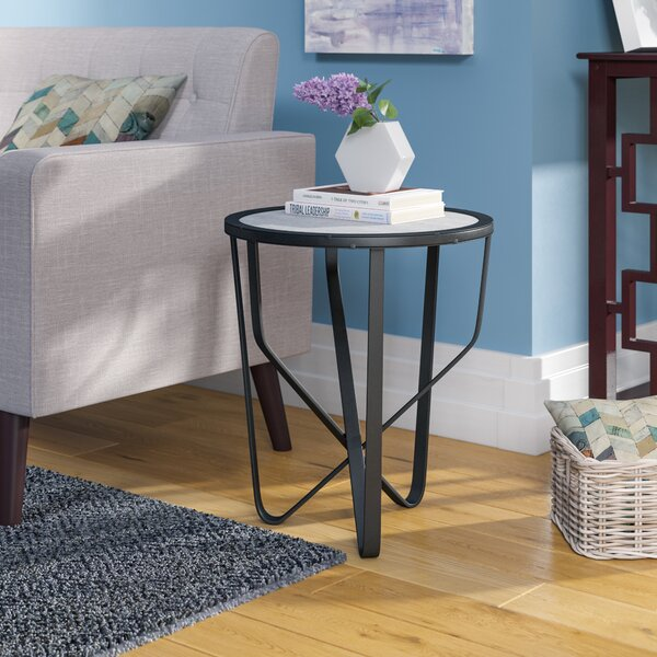 Melby Iron Side Table by Wrought Studio